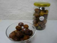 ital. Oliven Jumbo, natur, ohne Salz im Glas, 375g