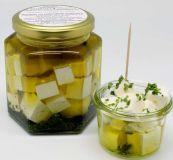 Feta Ziege, 140g in Olivenöl und Kräutern, Glas 300g , ROHMILCH