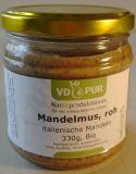 rohes Mandelmus aus ganzen italienischen Mandeln, 330g, Bio