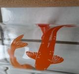Glas Trinkflasche 0,6 L plastikfrei, mit Keramikkorken, Grafik Koys